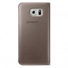 Etui portefeuille Samsung Or pour Samsung Galaxy S6 avec porte-cartes