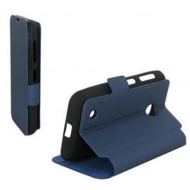 Etui type portefeuille pour Samsung Galaxy S5 Mini Bleu Nuit