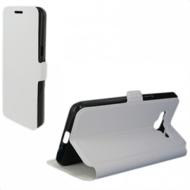 Etui Folio Stand blanc pour Samsung Galaxy Grand Prime