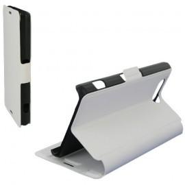 Etui type portefeuille pour Samsung Galaxy A7 Blanc