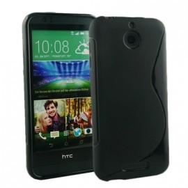 Coque semi-rigide noire pour HTC Desire 620
