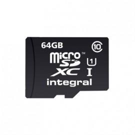 "Carte mémoire Micro SD ""Integral"" 64gb+ adaptateur"