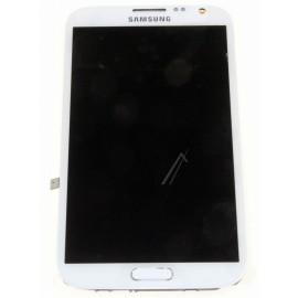 Bloc complet écran LCD + vitre tactile pour Samsung Galaxy Note 2 Blanc