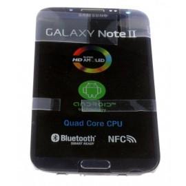 Bloc complet écran LCD + vitre tactile pour Samsung Galaxy Note 2 bleu