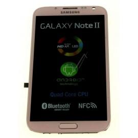 Bloc complet écran LCD + vitre tactile pour Samsung Galaxy Note 2 Rose