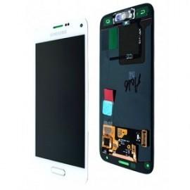 Bloc complet écran LCD + vitre tactile pour Samsung Galaxy S5 blanc