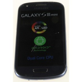 Bloc complet écran LCD + vitre tactile pour Samsung Galaxy S3 Mini Bleu métallique