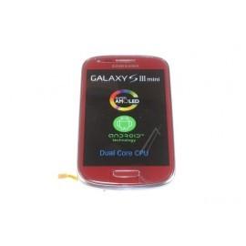 Bloc complet écran LCD + vitre tactile pour Samsung Galaxy S3 Mini Rouge