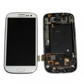 Bloc complet écran LCD + vitre tactile pour Samsung Galaxy S3 LTE(I9305) blanc