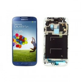 Bloc complet écran LCD + vitre tactile pour Samsung Galaxy S4 bleu métallique