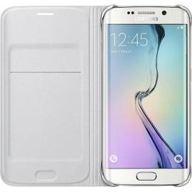 Etui Flip Wallet Blanc pour Galaxy S6 Edge