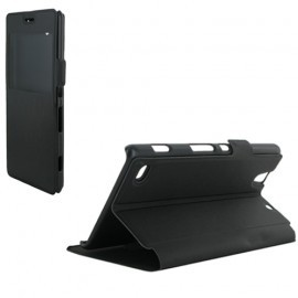 Etui portefeuille noir pour Sony Xperia C4