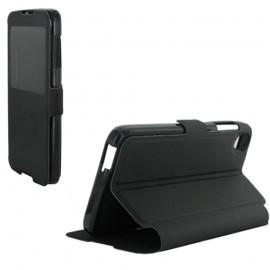 Etui portefeuille noir avec fenêtre pour Alcatel Idol 3 4.7