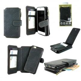 Etui portefeuille Noir pour iPhone 7 Plus