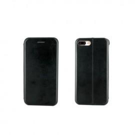 Etui portefeuille iPhone 7 Plus Noir à fermeture aimantée