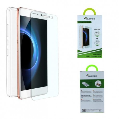 Pack protection verre trempé + coque silicone gel iPhone 7 Plus