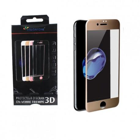 Protection verre trempé complète or iPhone 7