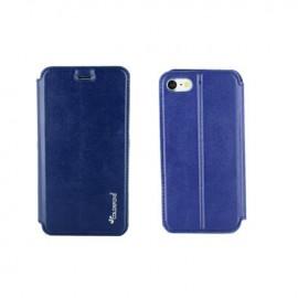 Etui portefeuille iPhone 8 Plus Bleu Nuit à fermeture aimantée