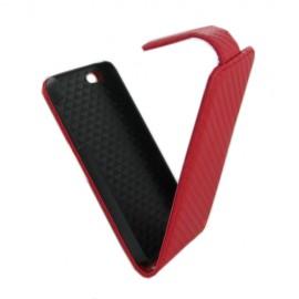 Housse à rabat vertical pour iPhone SE rouge