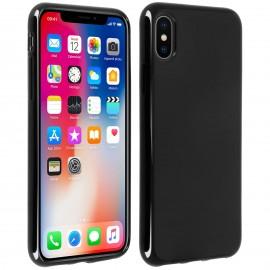 Coque silicone gel noire pour iPhone X
