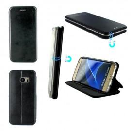 Etui Folio Business avec fermeture aimantée pour Samsung S7 Edge - Noir