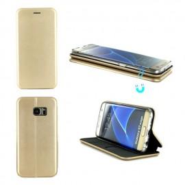 Etui Folio Business avec fermeture aimantée pour Samsung S7 Edge - Or