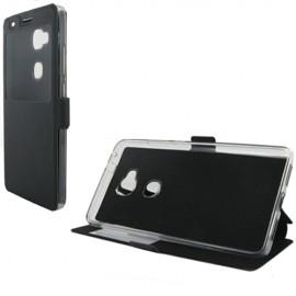 Etui portefeuille Noir avec fenêtre pour Huawei Honor 5X