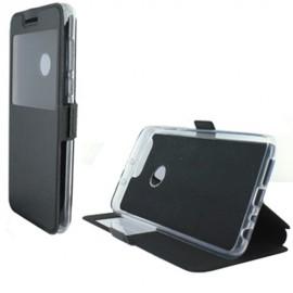 Etui portefeuille Noir avec fenêtre pour Huawei Honor 8