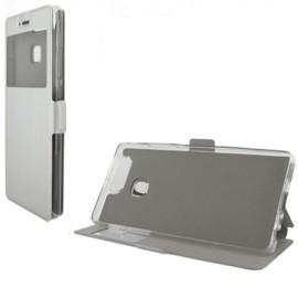 Etui portefeuille Argent avec fenêtre pour Huawei P9