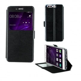 Etui portefeuille Noir avec fenêtre pour Huawei P10 Plus