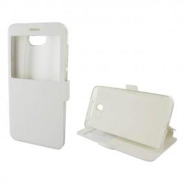 Etui portefeuille Blanc avec fenêtre pour Huawei Y5 II