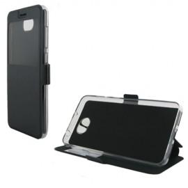 Etui portefeuille Noir avec fenêtre pour Huawei Y5 II