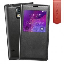 Etui portefeuille Noir avec fenêtre pour Samsung Galaxy Note 8
