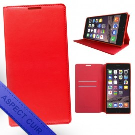 Etui portefeuille iPhone X rouge