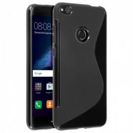 Coque silicone noire pour Huawei P8 Lite 2017