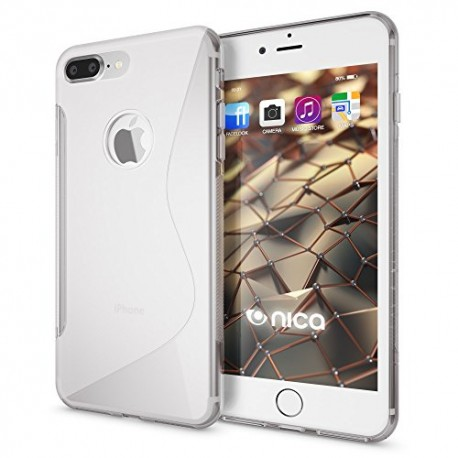Coque silicone transparent S Style pour iPhone 7 Plus