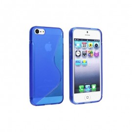 Coque silicone bleu S Style pour iPhone 7 Plus