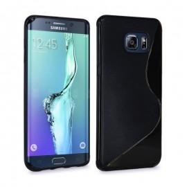 Coque silicone gel noire pour Samsung Galaxy S6 Edge