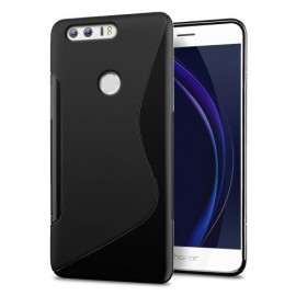 Coque silicone gel noire pour Huawei Honor 8