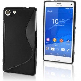 Coque silicone gel noire pour Sony X Compact