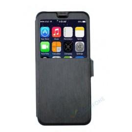 Etui portefeuille noir avec fenêtre Samsung Galaxy S9 Plus