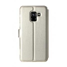 Etui portefeuille argent avec fenêtre Samsung Galaxy A8 2018