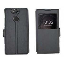Etui portefeuille noir avec fenêtre Sony Xperia XA2 Ultra