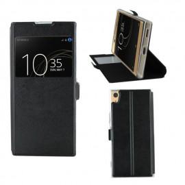 Etui portefeuille Noir avec fenêtre Sony Xperia XA1 Ultra