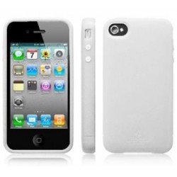 Coque silicone iphone 4 Blanc