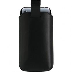 Etui avec languette noir universel pour tout mobile