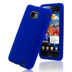 Coque silicone bleu Samsung Galaxy S2