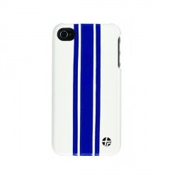 Coque en cuir trexta Snap it on iPhone Racing 3BI on White