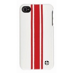 Coque en cuir trexta Snap it on iPhone 4 Racing 3WBONRED