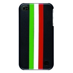 Coque en cuir trexta Snap it on Stripes Series drapeau Italien GWRONBLACK
